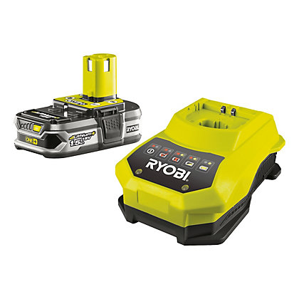 Image for Ryobi RBC18L15 18V ONE+ 1.5ah Battery & Charger from StoreName