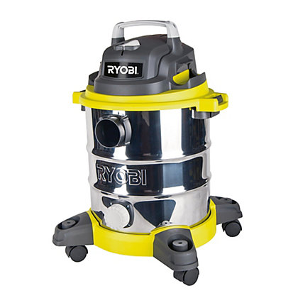 Image for Ryobi 20L 1250W Stainless Steel Wet & Dry Vacuum from StoreName