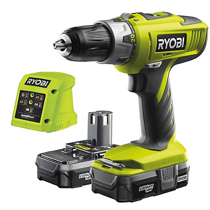 Image for Ryobi 18V One+ Combi Hammer Drill Kit - 2 x 1.3Ah Batteries from StoreName