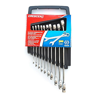 Image for Crescent 10 Piece SAE Combination Wrench Set from StoreName
