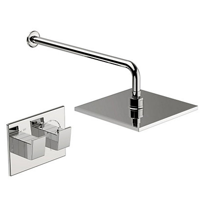 Image for New Waterfall Thermostatic Mixer Shower - Chrome from StoreName