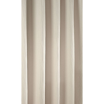 Image for Mondella Waffle Shower Curtain - Stone from StoreName