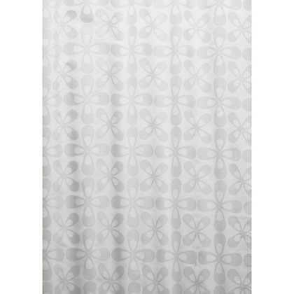 Image for Estilo Optical Geo Shower Curtain - White from StoreName