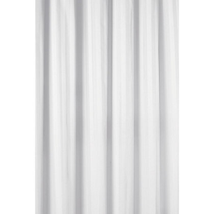 Image for Mondella Wovenstripe Shower Curtain - White from StoreName