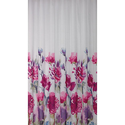 Image for Estilo Watercolour Floral Shower Curtain from StoreName