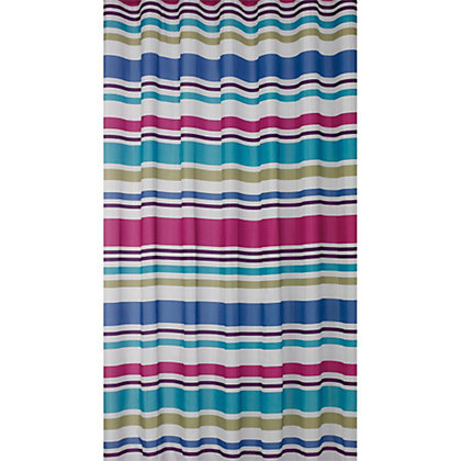 Image for Estilo Multicolour Stripe Shower Curtain from StoreName