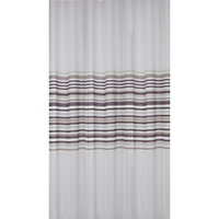 Banded Stripe Shower Curtain - Natural