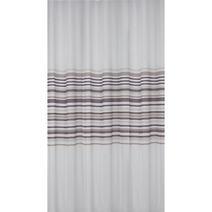 Image for Banded Stripe Shower Curtain - Natural from StoreName