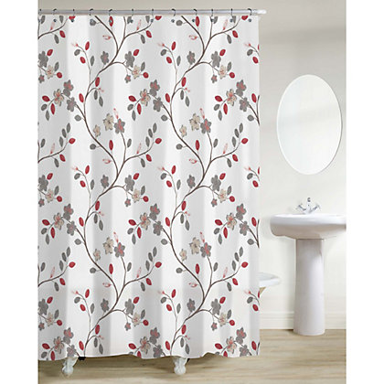 Image for Estilo Silk Road Blossom Shower Curtain - Multicoloured from StoreName