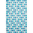 Estilo Mosaic Shower Curtain - Blue