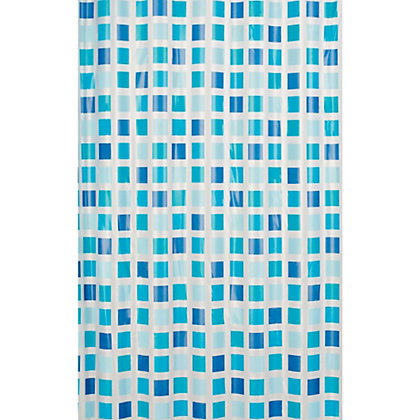 Image for Estilo Mosaic Shower Curtain - Blue from StoreName
