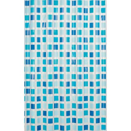 Estilo Mosaic Shower Curtain Blue