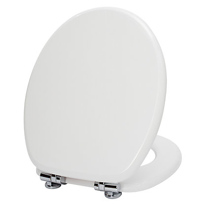 Image for Mondella White MDF Soft Close Toilet Seat from StoreName