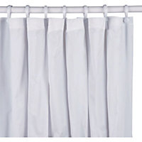 PVC Shower Curtain - Plain White