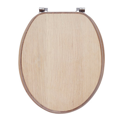 Image for Mondella Solid Wood Limed Oak Toilet Seat from StoreName