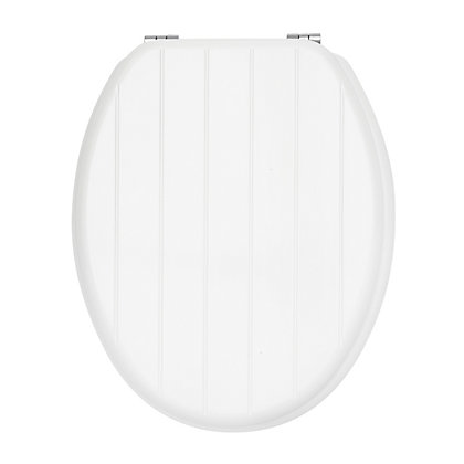 Image for Estilo White Tongue And Groove Toilet Seat from StoreName