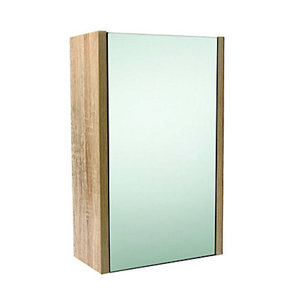 Image for Mondella Skydale Bathroom Single Door Cabinet - Oak Effect from StoreName