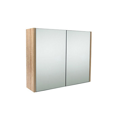 Image for Skydale Bathroom Double Door Cabinet - Oak Effect from StoreName