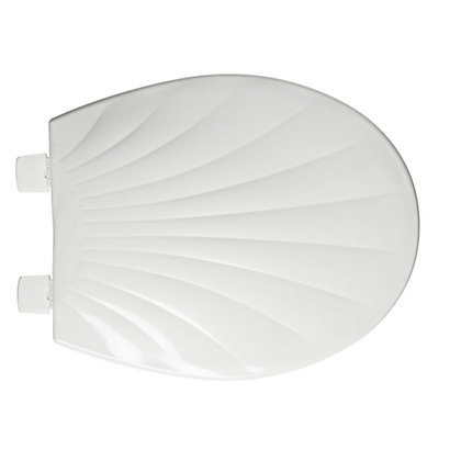 Image for Croydex Scallop Shell White Toilet Seat from StoreName