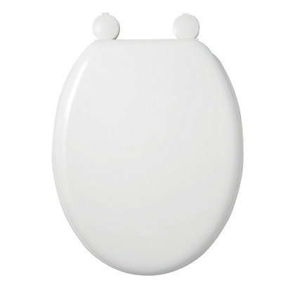 Image for Mondella Moulded Wood White Toilet Seat from StoreName