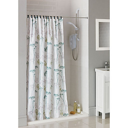 Image for Estilo Hedgerow Trail Fabric Shower Curtain from StoreName