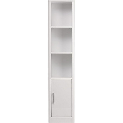 Image for Aliso Tall Boy Bathroom Cabinet - White Gloss from StoreName