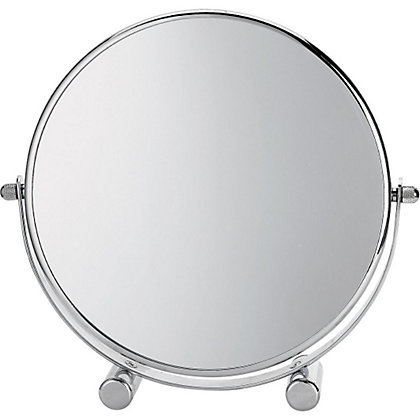Image for Small Round Footed Mirror - Chrome Plated from StoreName