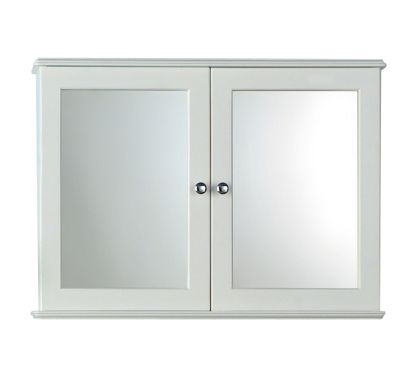 Bathroom mirrored cabinet homebasecouk for Homebase bathroom storage units