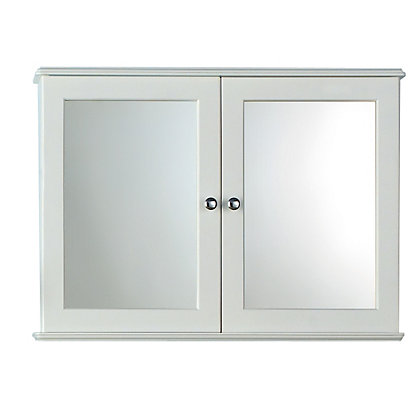 Image for Estilo Arizona Double Bathroom Cabinet - White from StoreName