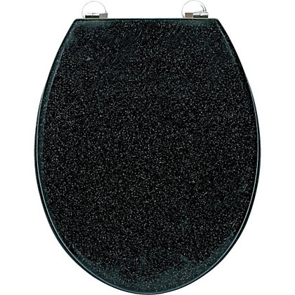 Image for Croydex Black Glitter Toilet Seat from StoreName