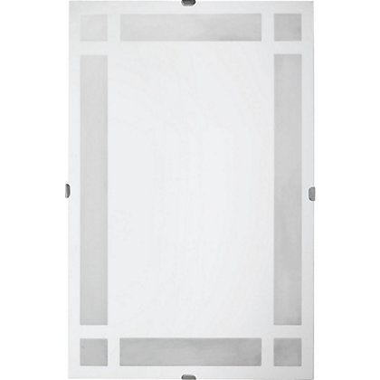 Image for Estilo Unframed Block Frosted Glass Mirror from StoreName