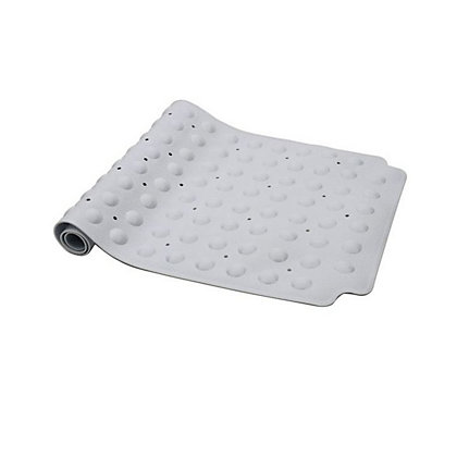 Image for Estilo Vinyl Double Suction Bath Mat - White from StoreName