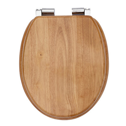 Image for Mondella Natural Oak Effect Soft Close Toilet Seat from StoreName