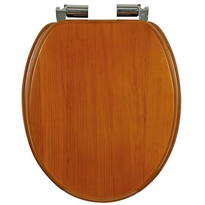 Image for Mondella Antique Pine Effect Soft Close Toilet Seat from StoreName
