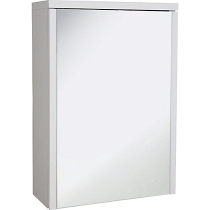 Image for Croydex Montana Single Swivel Mirror Door Bathroom Cabinet - White from StoreName