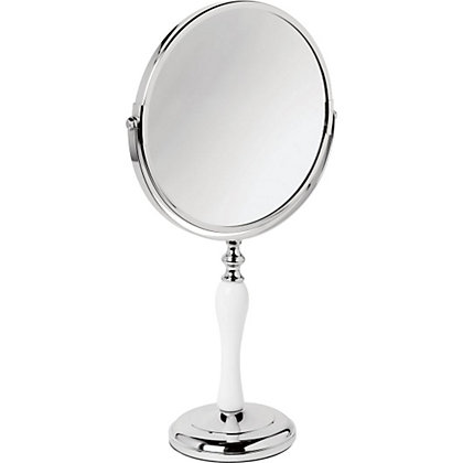 Image for Classic Stand Mirror - White and Chrome from StoreName