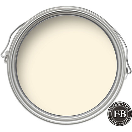 farrow ball estate white tie matt emulsion paint 2 5l. Black Bedroom Furniture Sets. Home Design Ideas