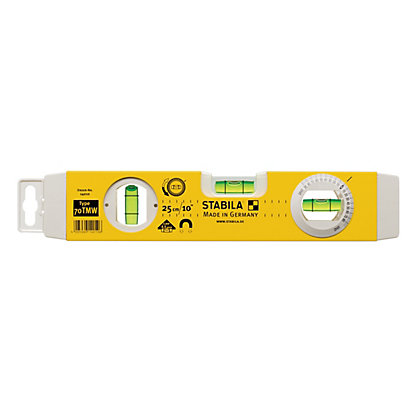 Image for STABILA 70 Torpedo Boat Magnetic V Angle Spirit Level 25cm from StoreName