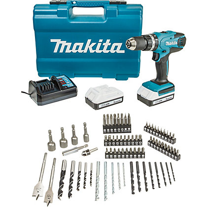 Image for Makita 18V Combi Drill with 74 Piece Accessory Set from StoreName