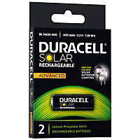 Duracell Solar Lighting LiFePO4 14430 Battery - 2 pack