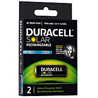 Duracell Solar Lighting LiFePO4 18500 Battery - 2 pack