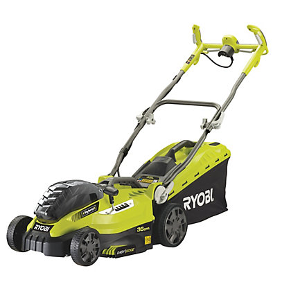 Image for Ryobi RLM18X36250 18V 36cm Cordless Lawn Mower with 2 x 5.0Ah Battery from StoreName