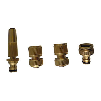 Image for Aqua Systems Brass Hose Fitting Set from StoreName