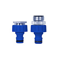 Aqua Systems Indoor Tap Male & Female Connectors (Twin Pack)