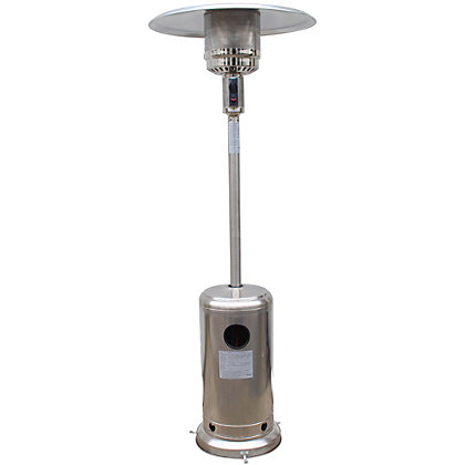Image for Freestanding Gas Patio Heater - Stainless Steel from StoreName