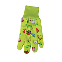 Briers Kids Birds Cotton Grip Gardening Gloves - Pink