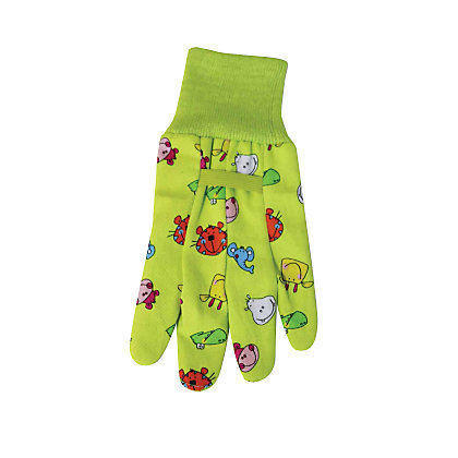 Image for Briers Kids Birds Cotton Grip Gardening Gloves - Pink from StoreName