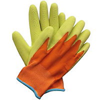 Briers Kids Digger Gardening Gloves - Orange & Green