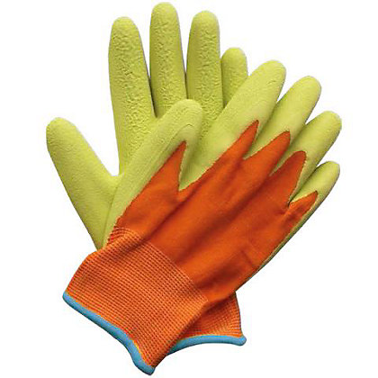 Image for Briers Kids Digger Gardening Gloves - Orange & Green from StoreName