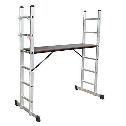 Image for Aluminium Scaffolding Ladder - 160 x 40 x 178cm from StoreName